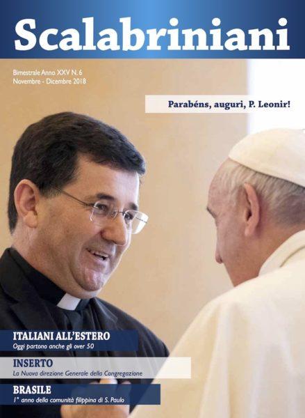 Rivista Scalabriniani - Padre Leonir Chiarello, superiore generale scalabriniano, incontra papa Francesco