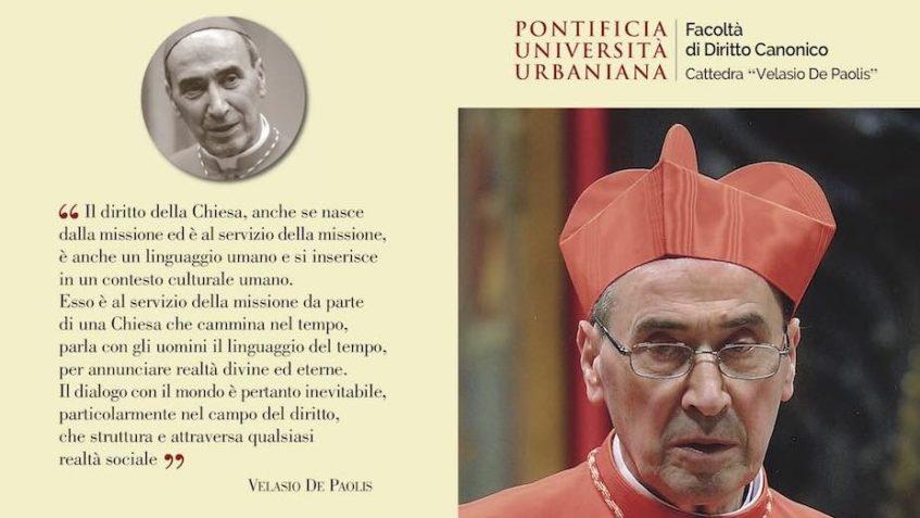 L'Urbaniana ha intitolato una cattedra a Velasio De Paolis