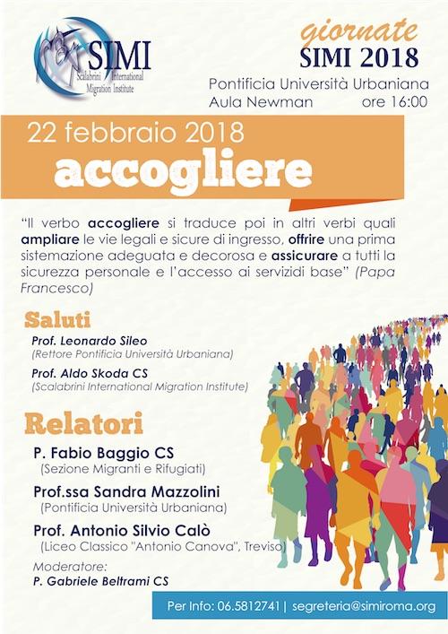 Giornate SIMI 2018: quattro incontri sui verbi di papa Francesco per i migranti