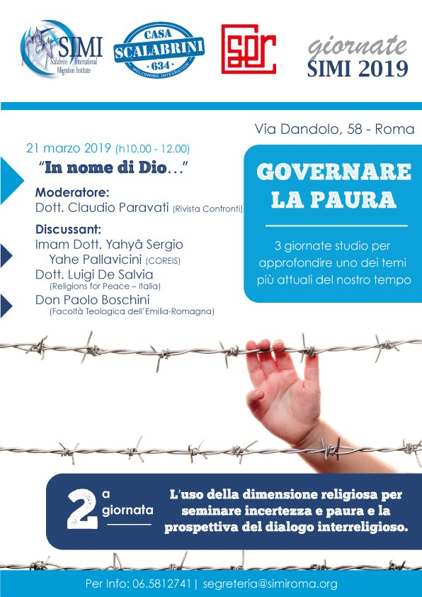 """""""Giornate SIMI 2019"""": il secondo appuntamento sarà sul dialogo interreligioso"""
