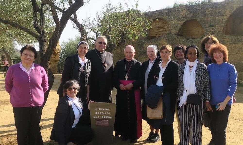 Il beato Scalabrini nel Giardino dei Giusti di Agrigento